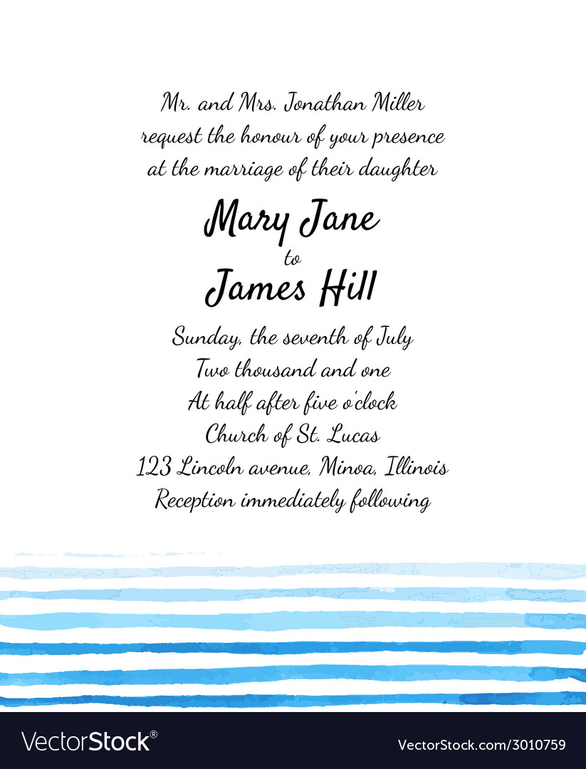 Wedding invitation with watercolor elements vector | Price: 1 Credit (USD $1)