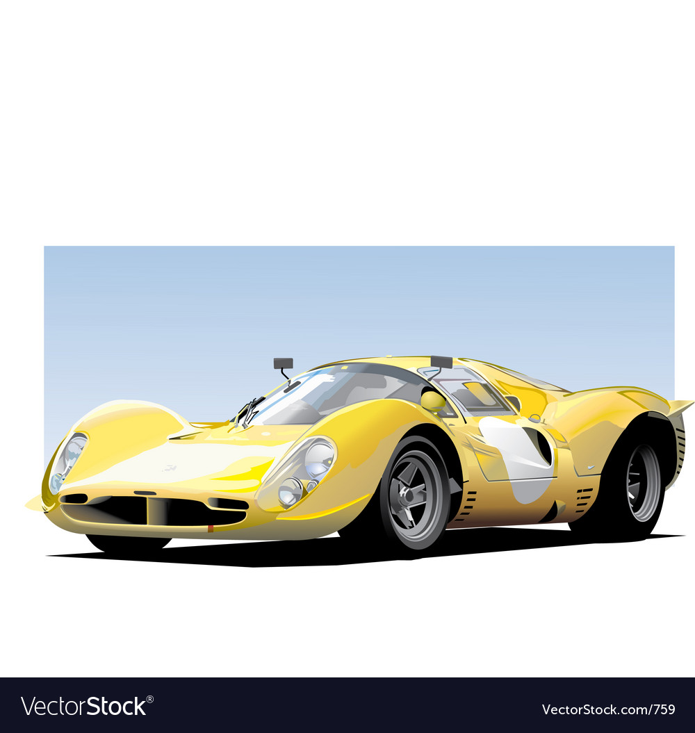 Yellow sportscar vector | Price: 5 Credit (USD $5)