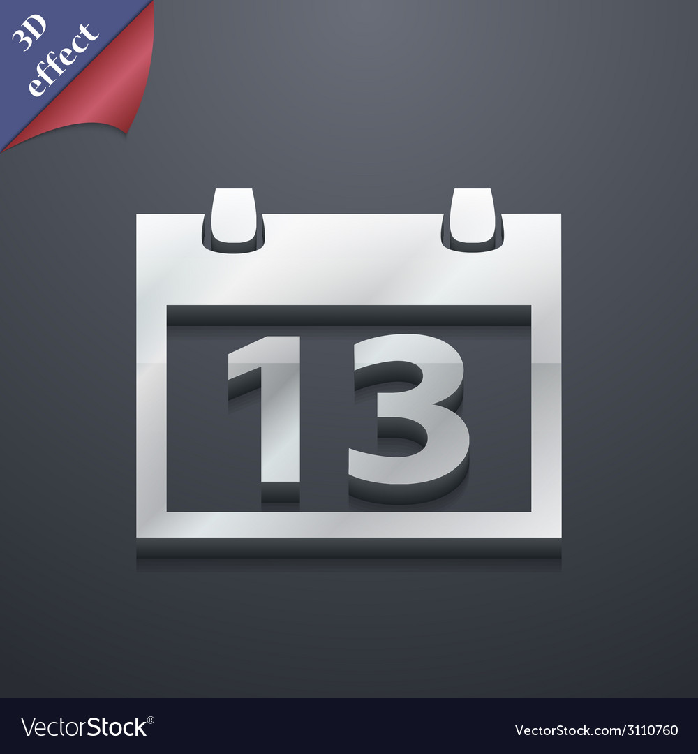 Calendar icon symbol 3d style trendy modern design vector | Price: 1 Credit (USD $1)