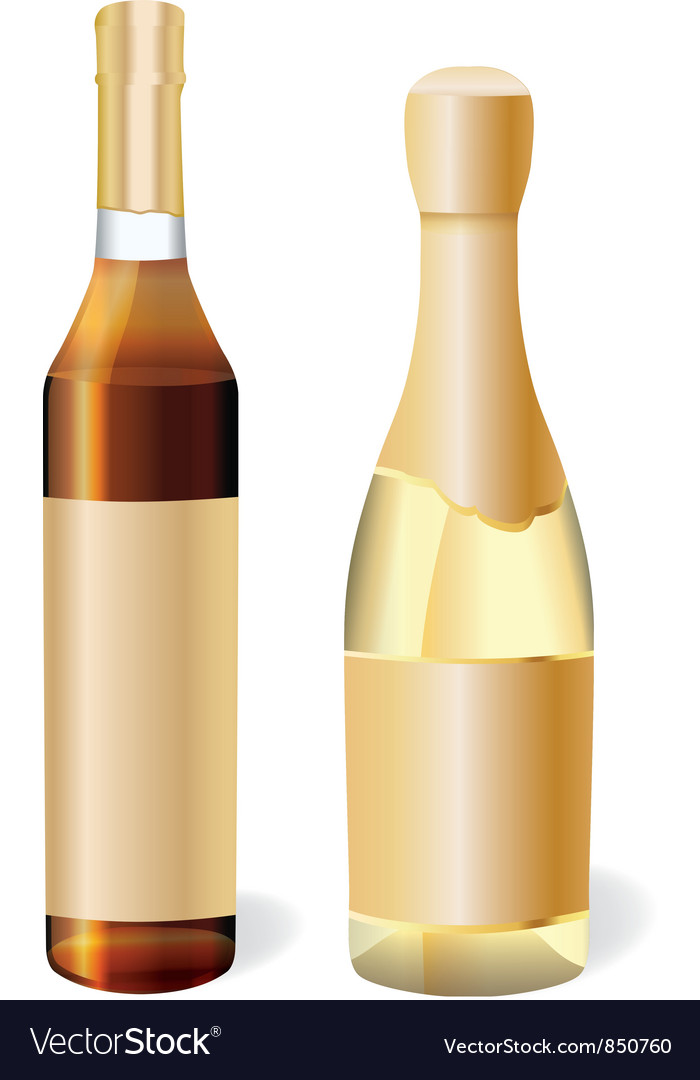 Champagne and cognac vector | Price: 1 Credit (USD $1)