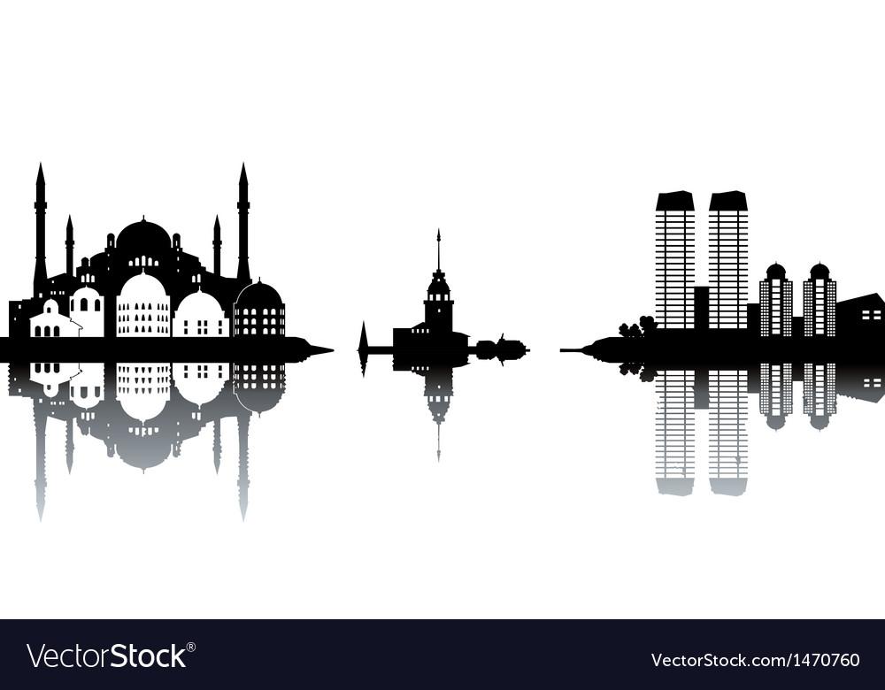 Cityscape silhouette vector | Price: 1 Credit (USD $1)