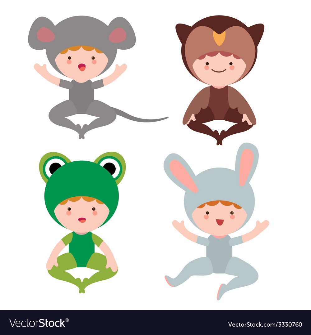Cute baby animals characters vector | Price: 1 Credit (USD $1)