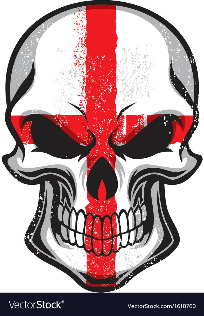 England flag in skull vector | Price: 1 Credit (USD $1)
