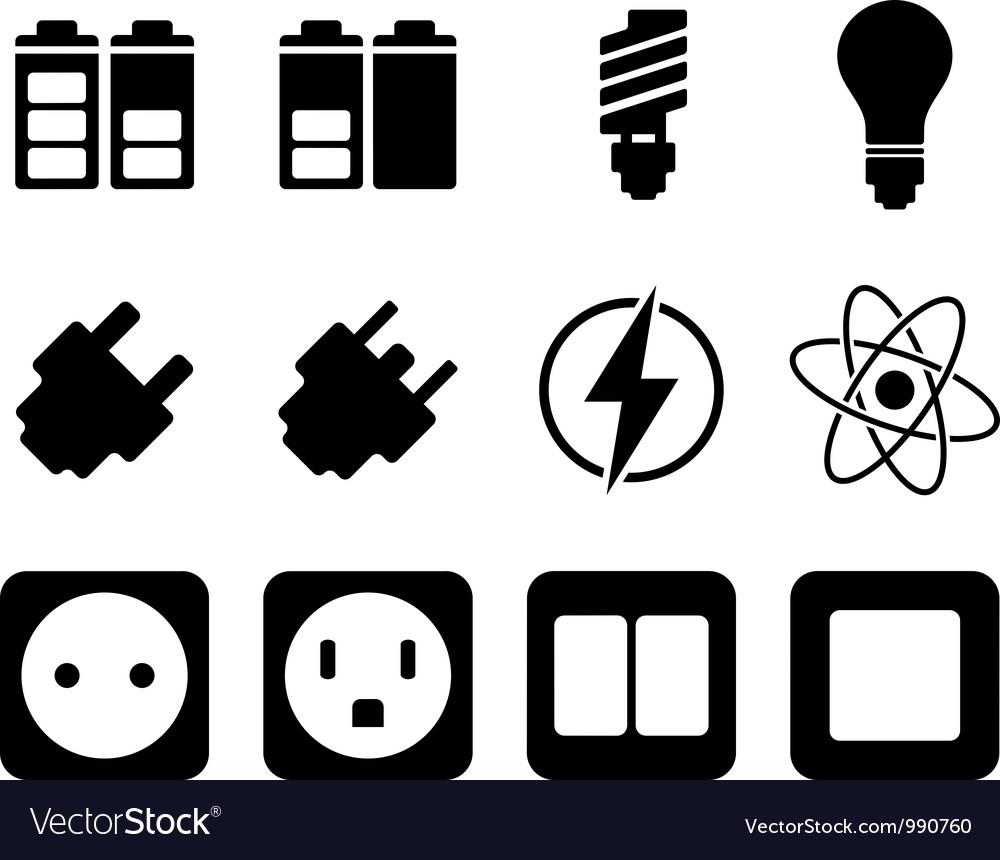 Icon set twelve vector | Price: 1 Credit (USD $1)