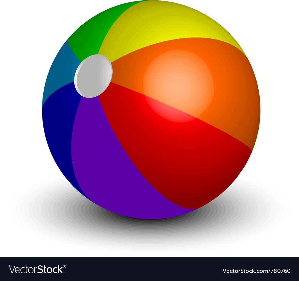 Inflatable beach ball vector | Price: 1 Credit (USD $1)