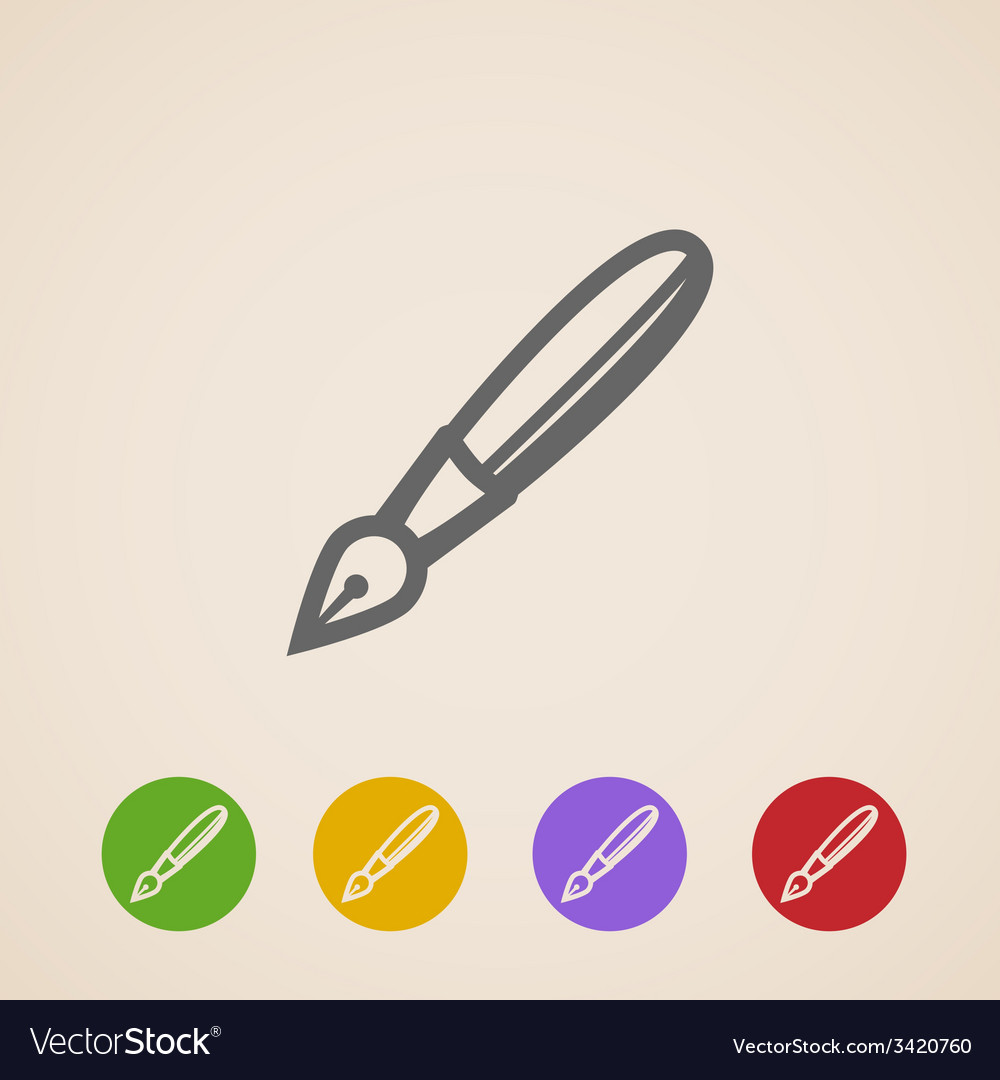 Ink pen icons vector | Price: 1 Credit (USD $1)