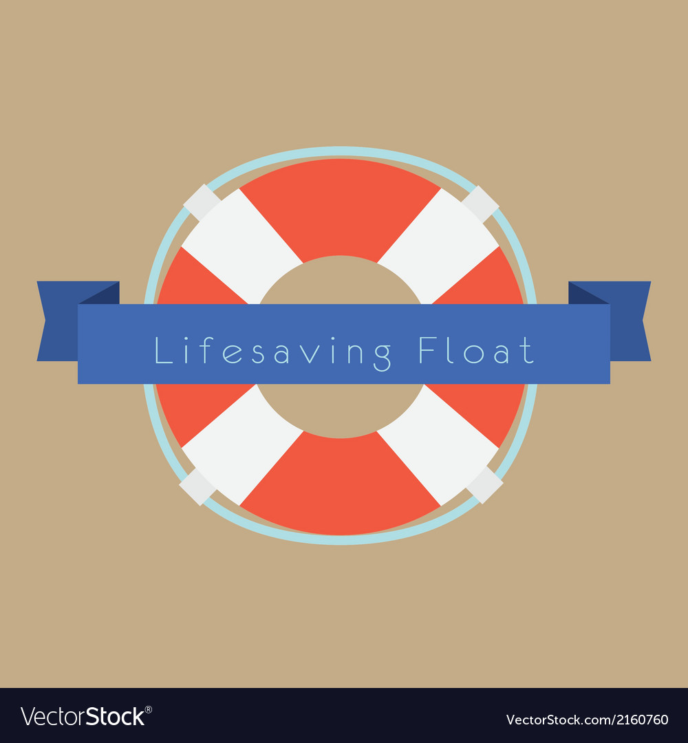 Life saving float ring vector | Price: 1 Credit (USD $1)