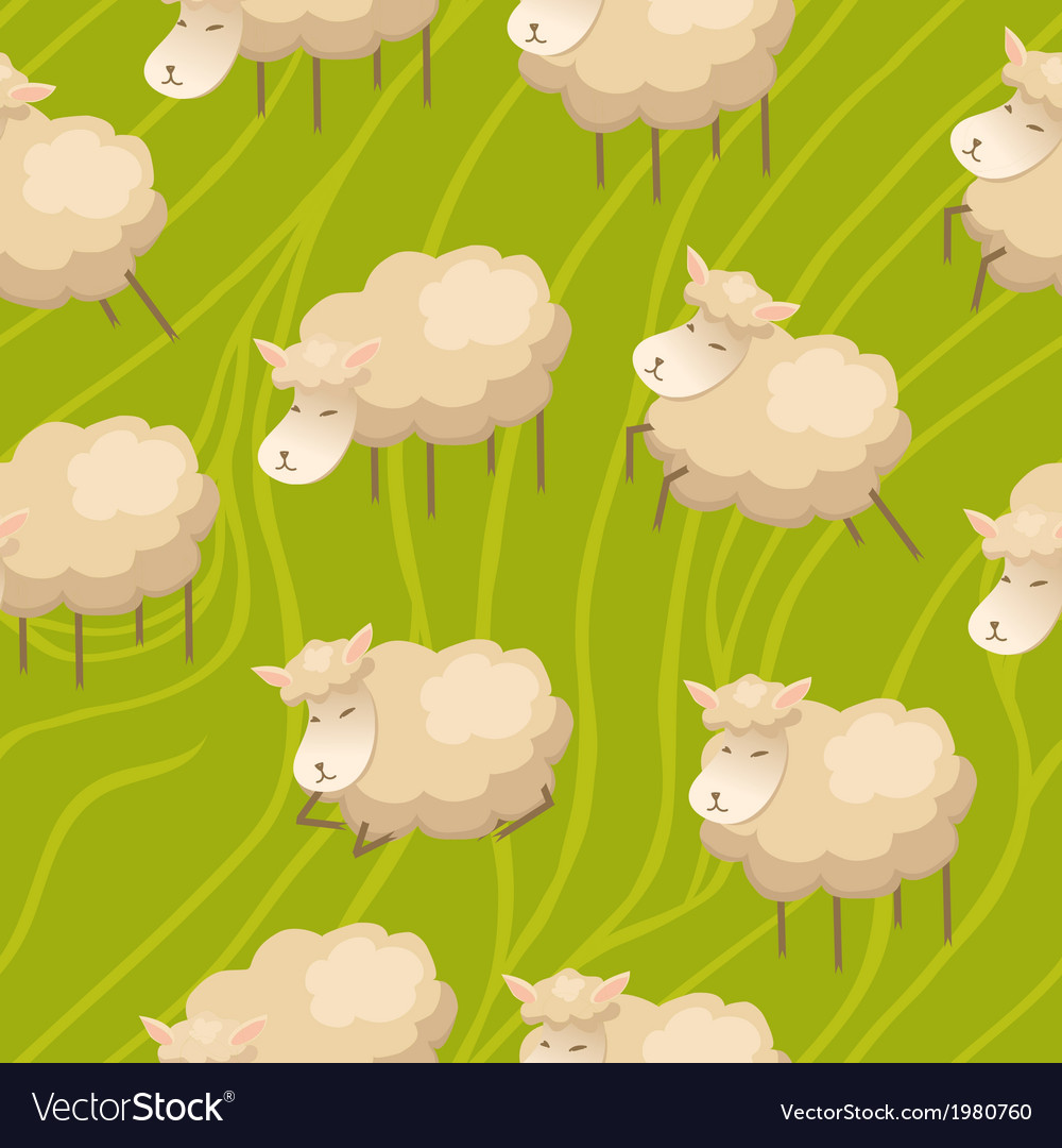 Seamless lamb background vector | Price: 1 Credit (USD $1)