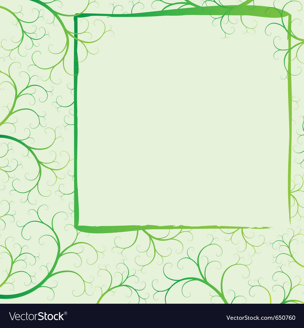 Spring frame with swirls vector | Price: 1 Credit (USD $1)
