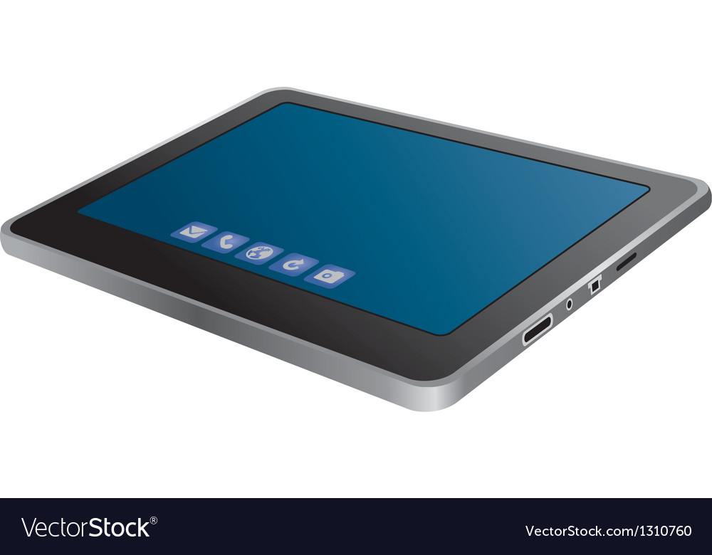 Tablet pc vector | Price: 3 Credit (USD $3)