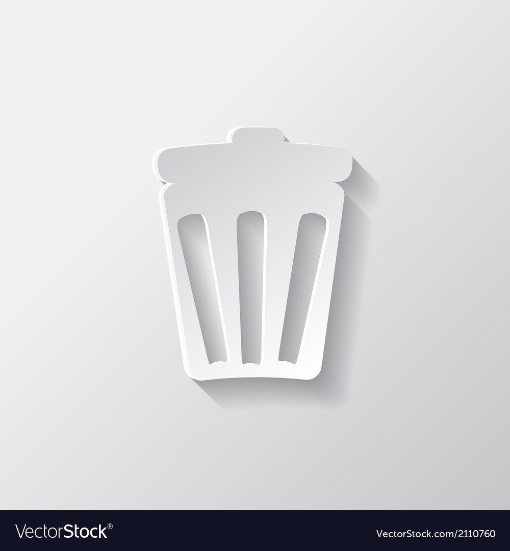 Trash can icon recycle symbol waste container vector | Price: 1 Credit (USD $1)