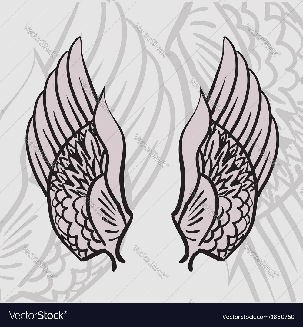 Two wings vector | Price: 1 Credit (USD $1)