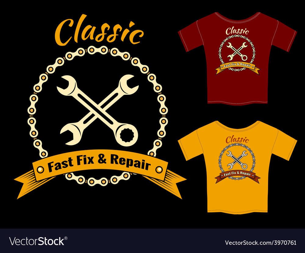 Fix and repair t-shirt template design vector | Price: 1 Credit (USD $1)