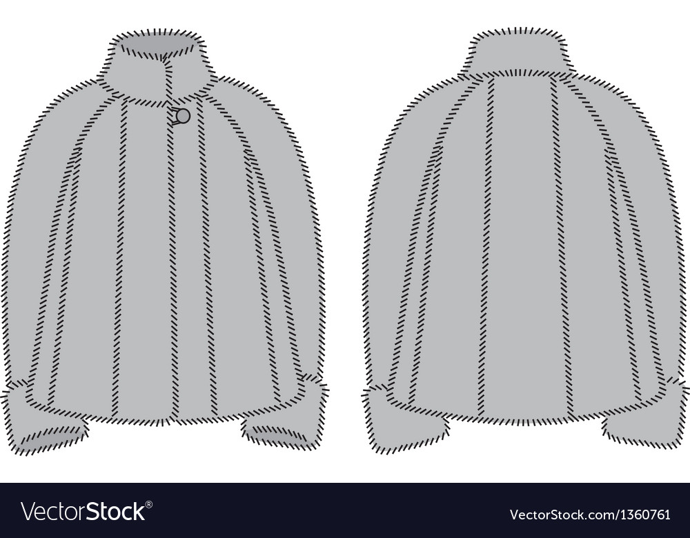 Fur coat vector | Price: 1 Credit (USD $1)