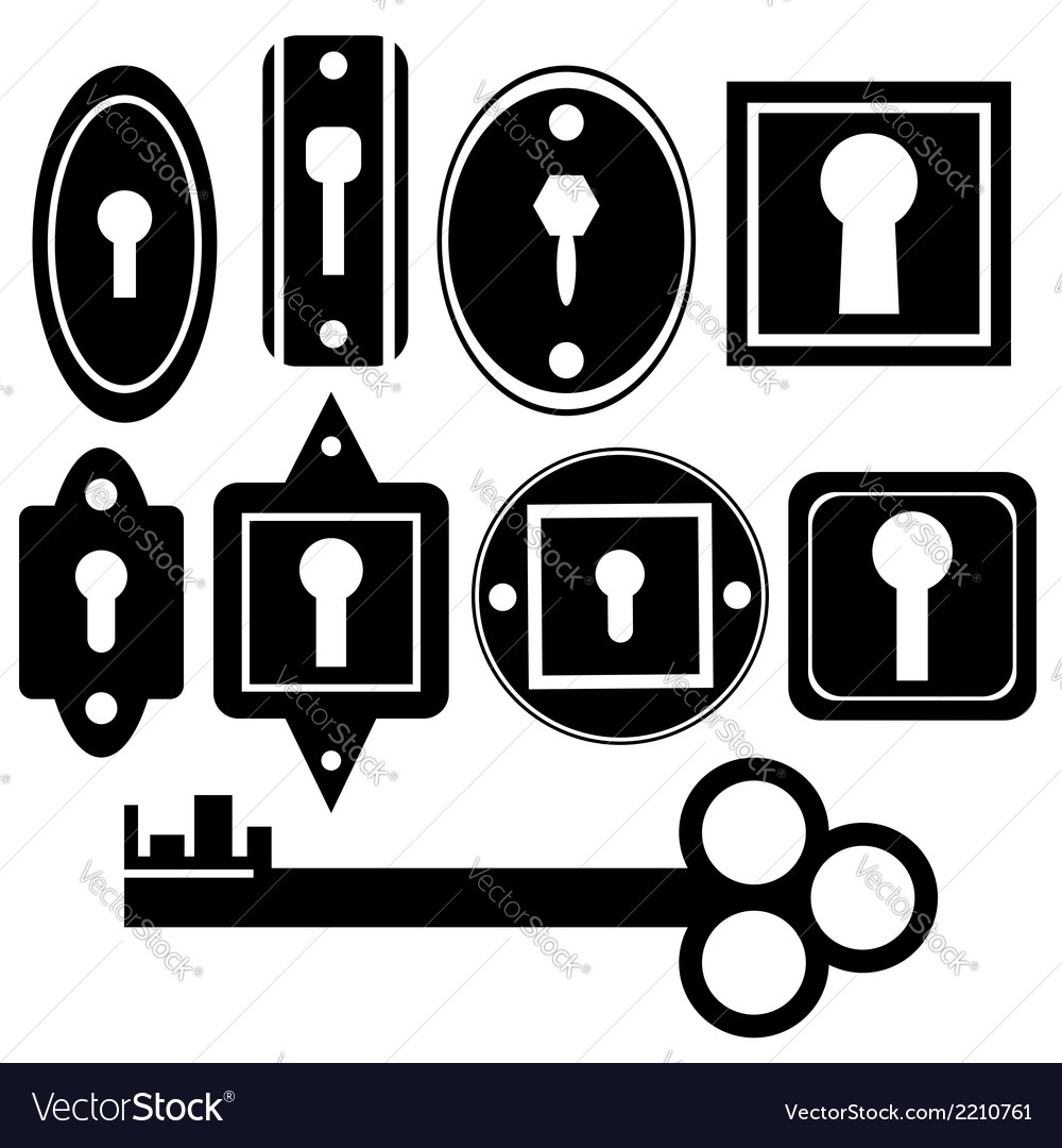 Key and keyholes vector | Price: 1 Credit (USD $1)