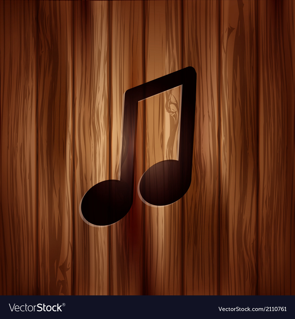 Music note icon musical background vector | Price: 1 Credit (USD $1)