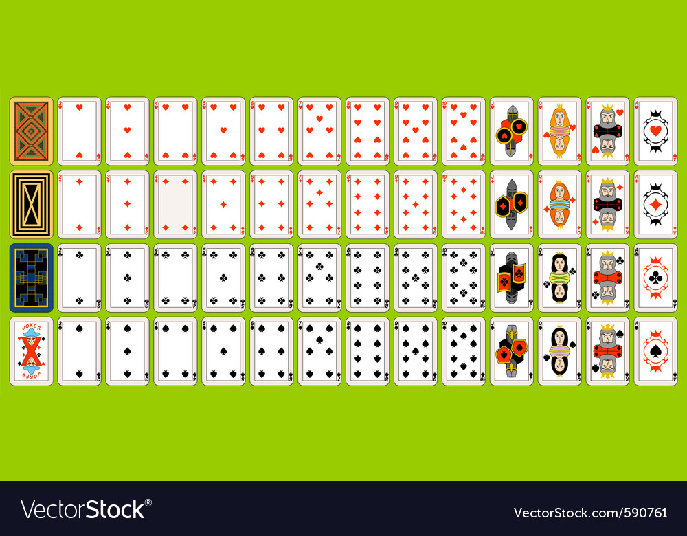 Set of playing cards vector   Price: 1 Credit (USD $1)
