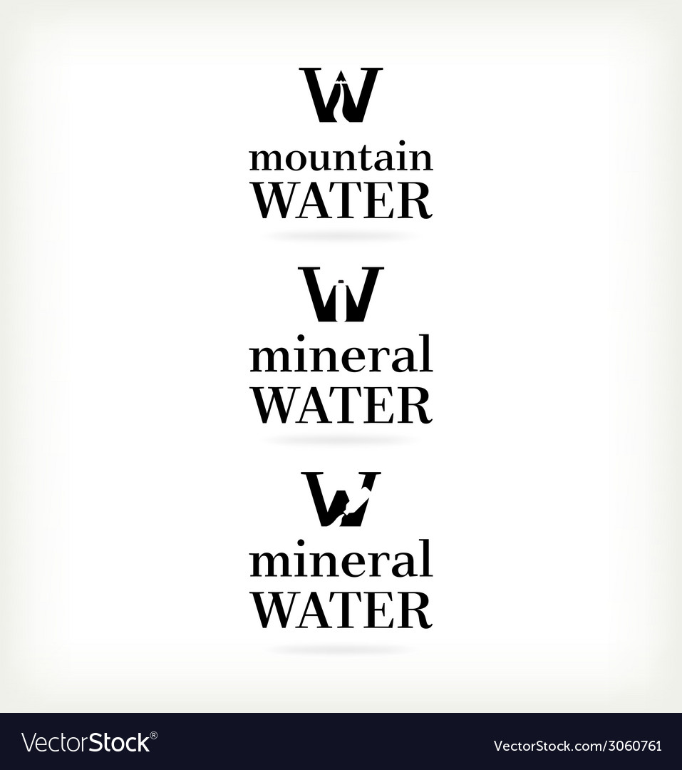 Set water symbol vector | Price: 1 Credit (USD $1)