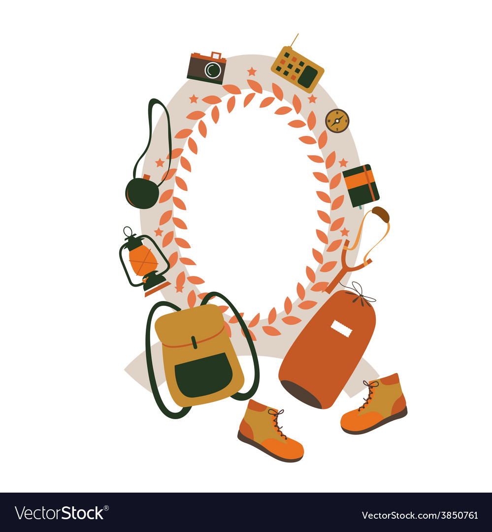 Traveler style design vector