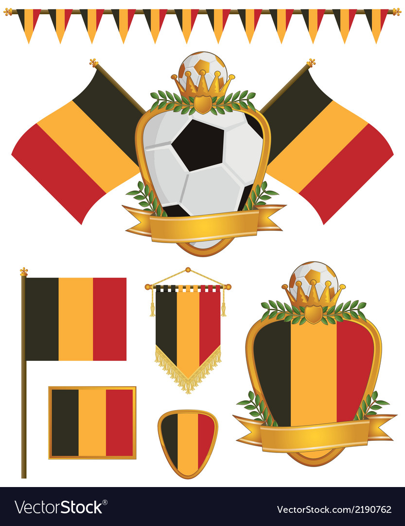 Belgium flags vector | Price: 1 Credit (USD $1)