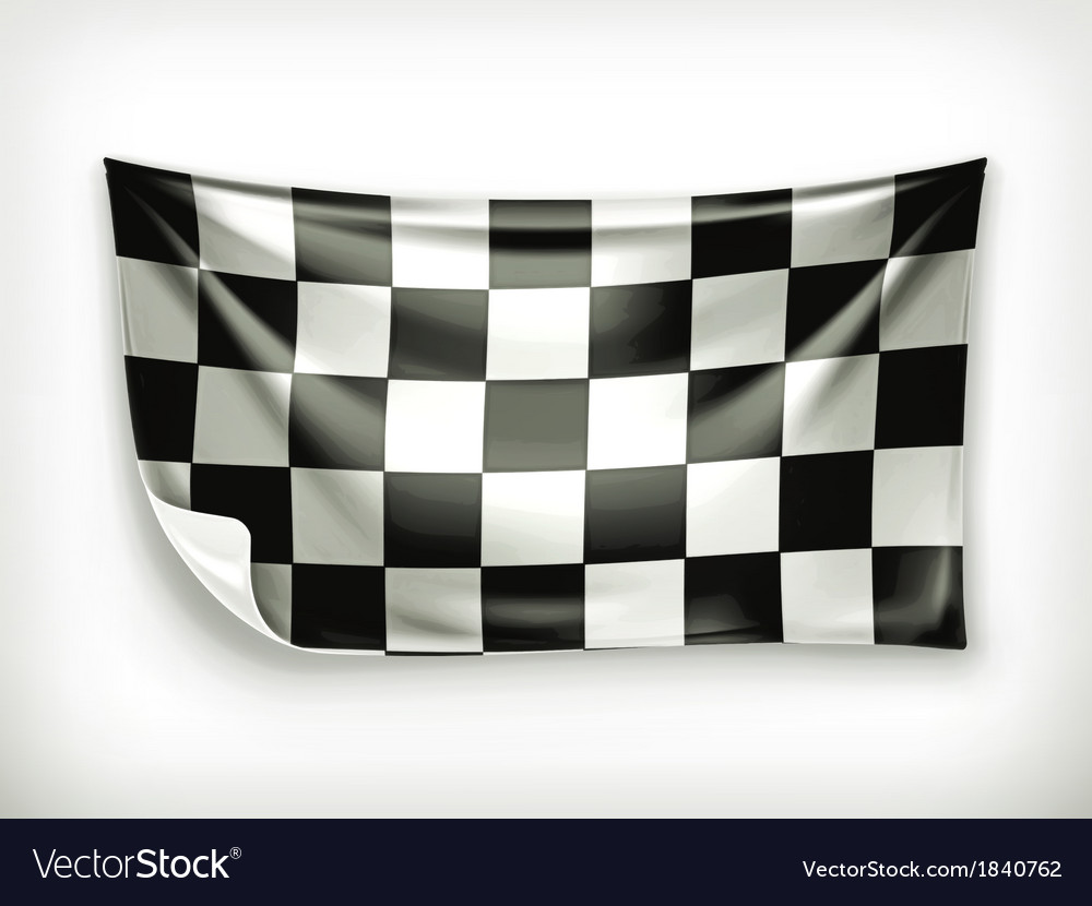 Checkered banner vector | Price: 1 Credit (USD $1)