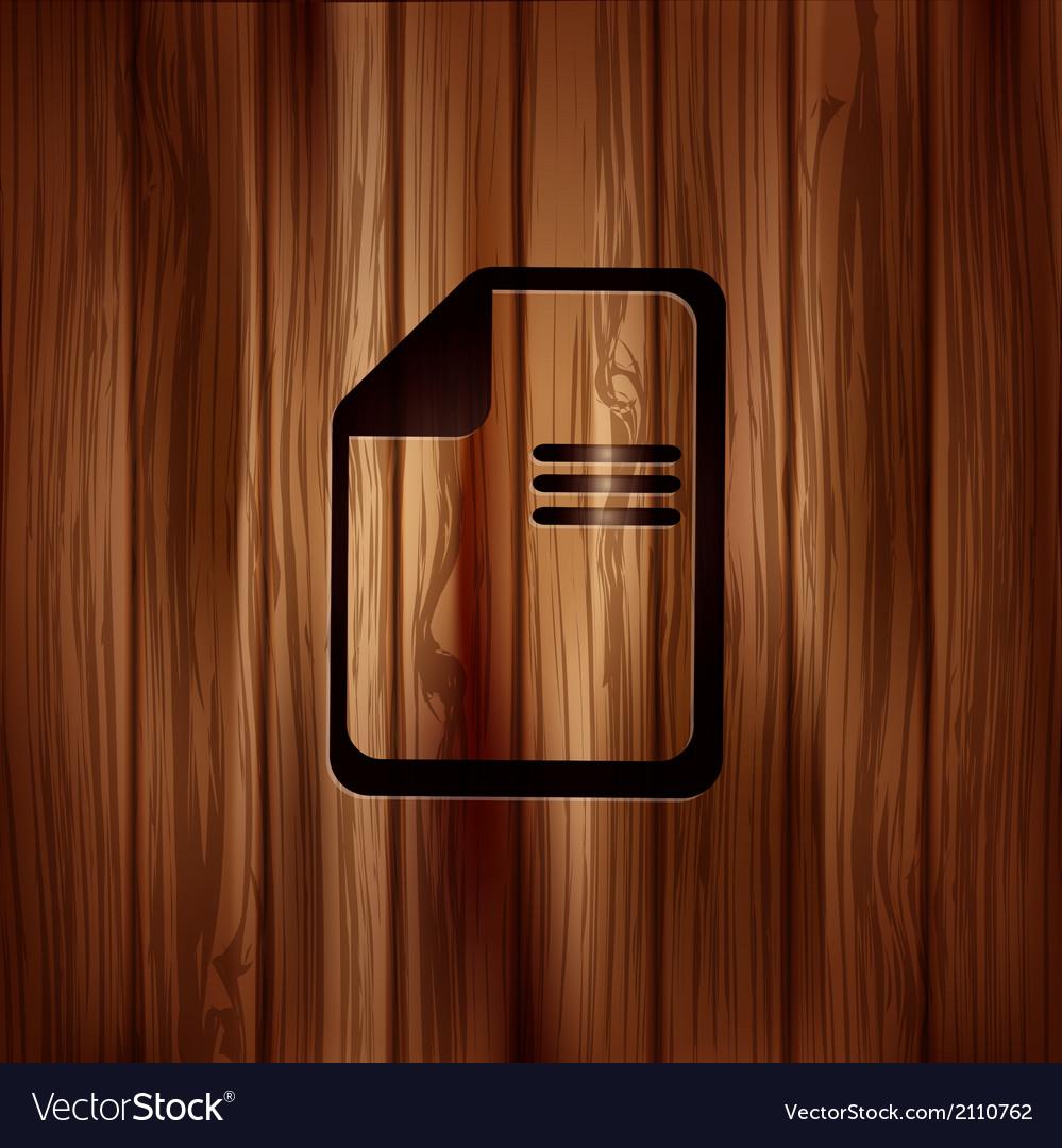 File icon data symbol document format vector   Price: 1 Credit (USD $1)