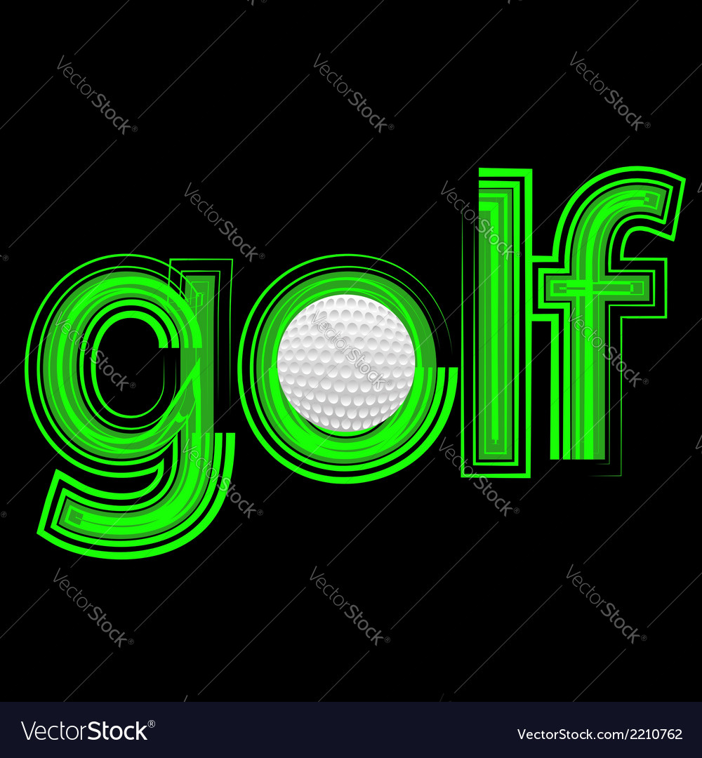 Golf icon vector | Price: 1 Credit (USD $1)