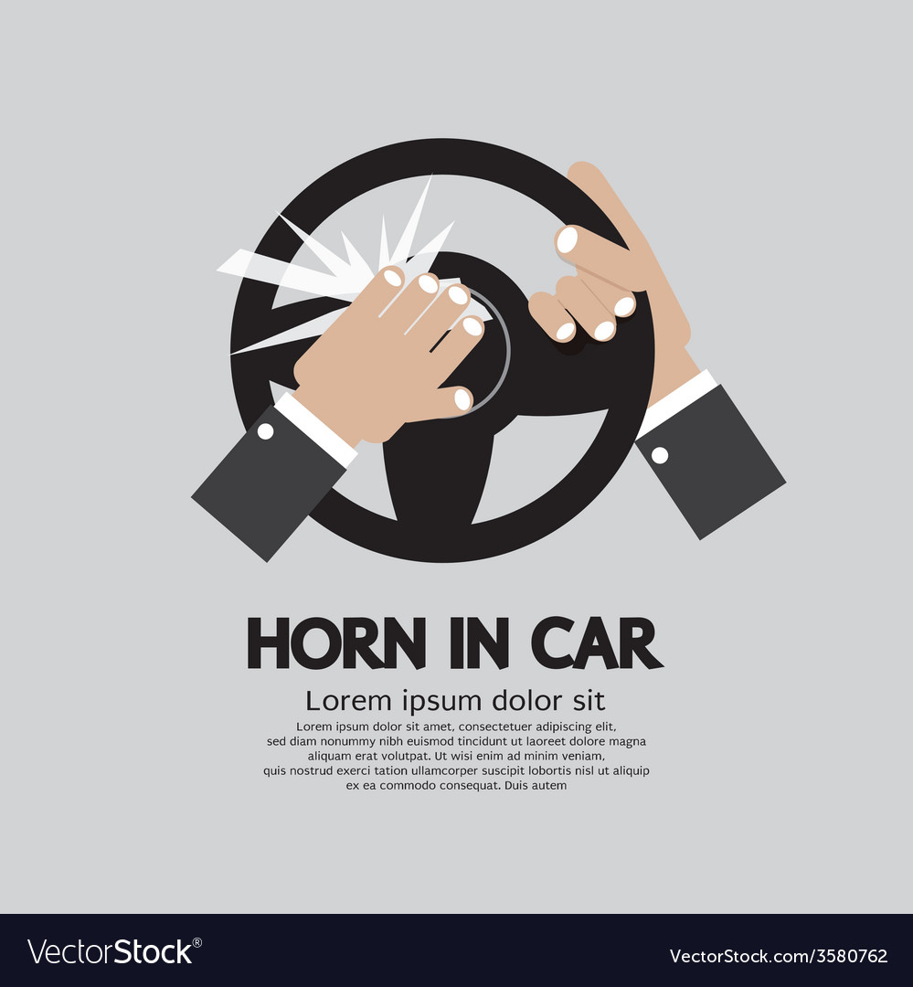 Man honking the horn in a car vector | Price: 1 Credit (USD $1)