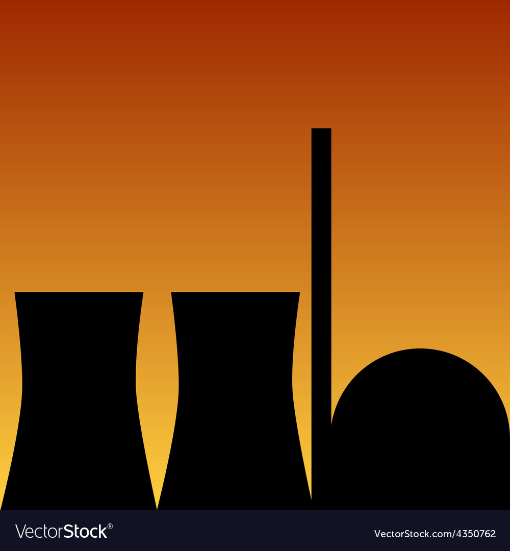 Nuclear power station vector | Price: 1 Credit (USD $1)
