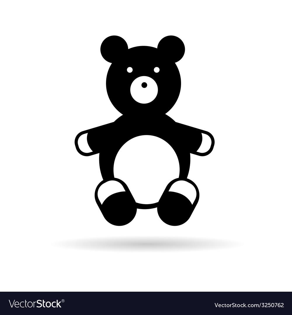 Teddy bear black vector | Price: 1 Credit (USD $1)