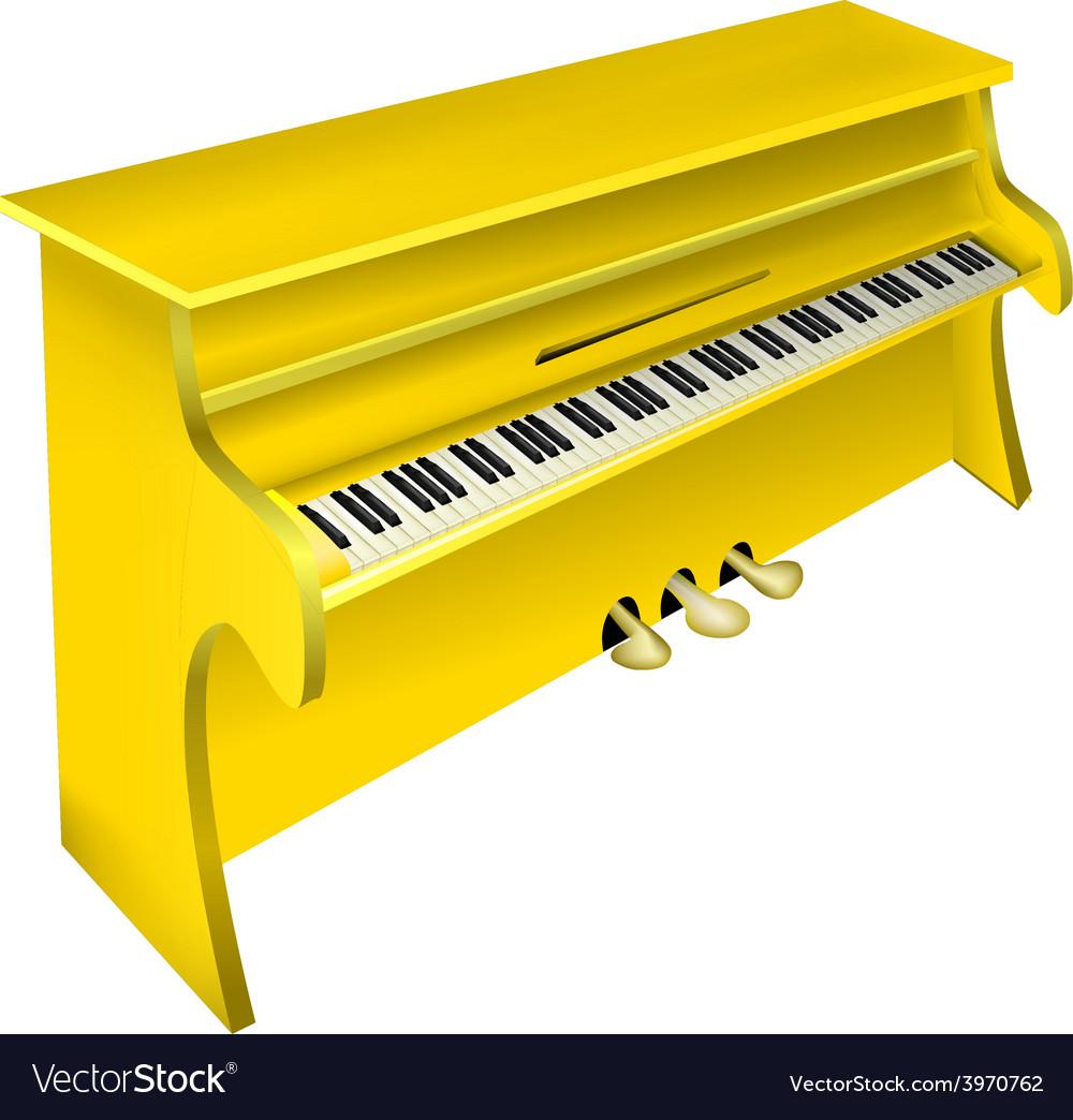 Yellow piano vector | Price: 1 Credit (USD $1)