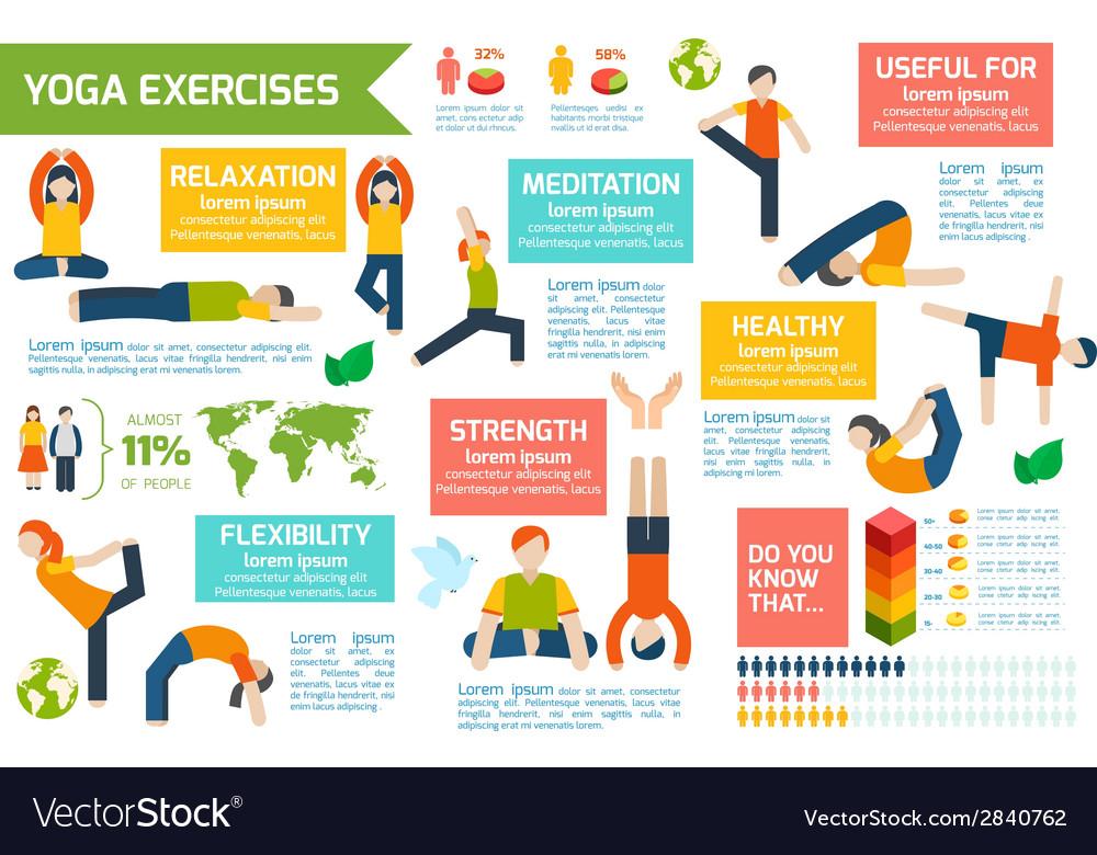 Yoga infographics set vector | Price: 1 Credit (USD $1)