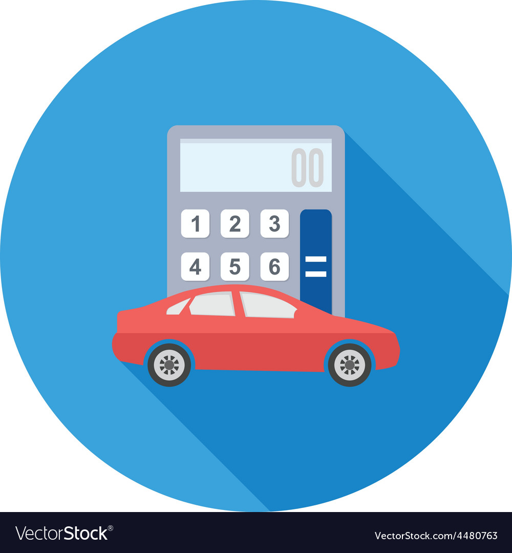 Auto loan calculator vector | Price: 1 Credit (USD $1)