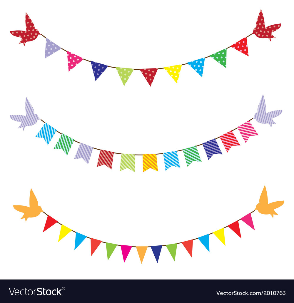 Bunting birds vector | Price: 1 Credit (USD $1)