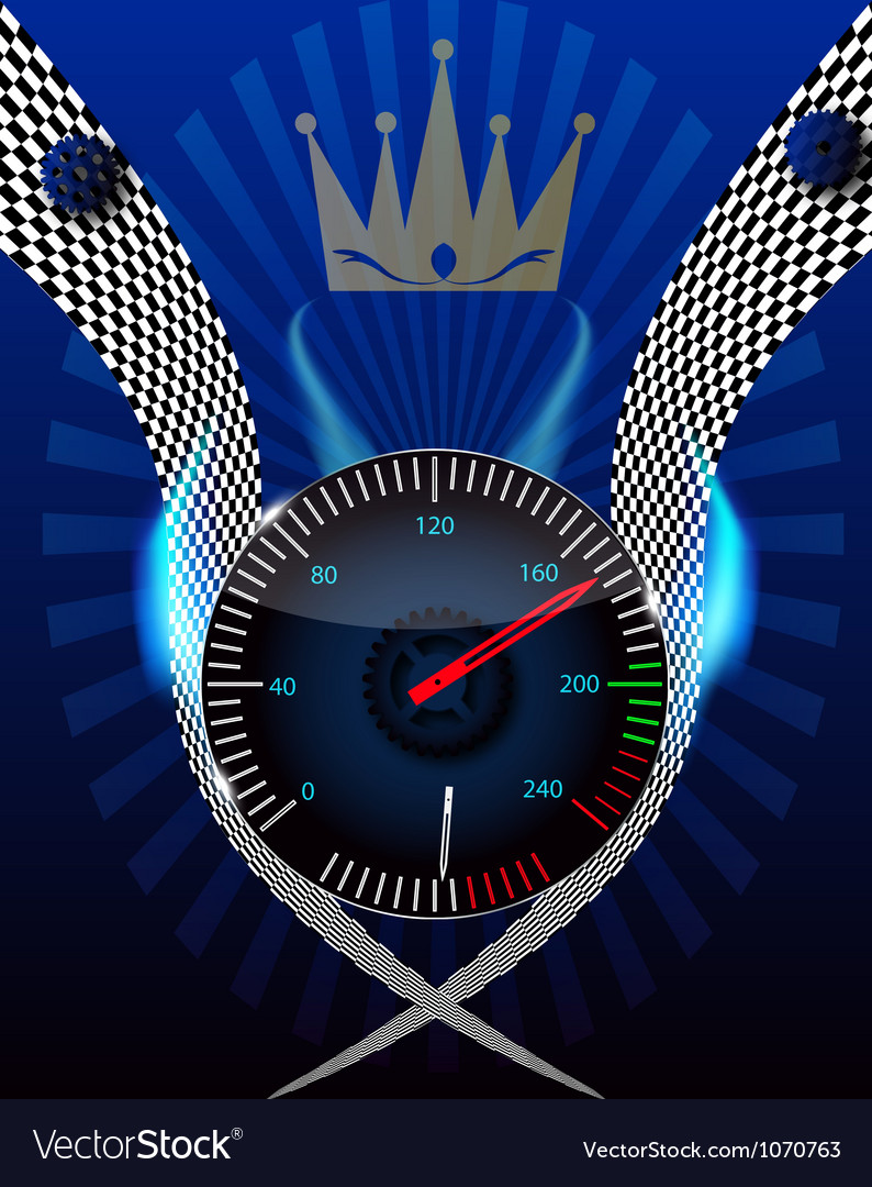 Checkered flag speedometer vector | Price: 1 Credit (USD $1)