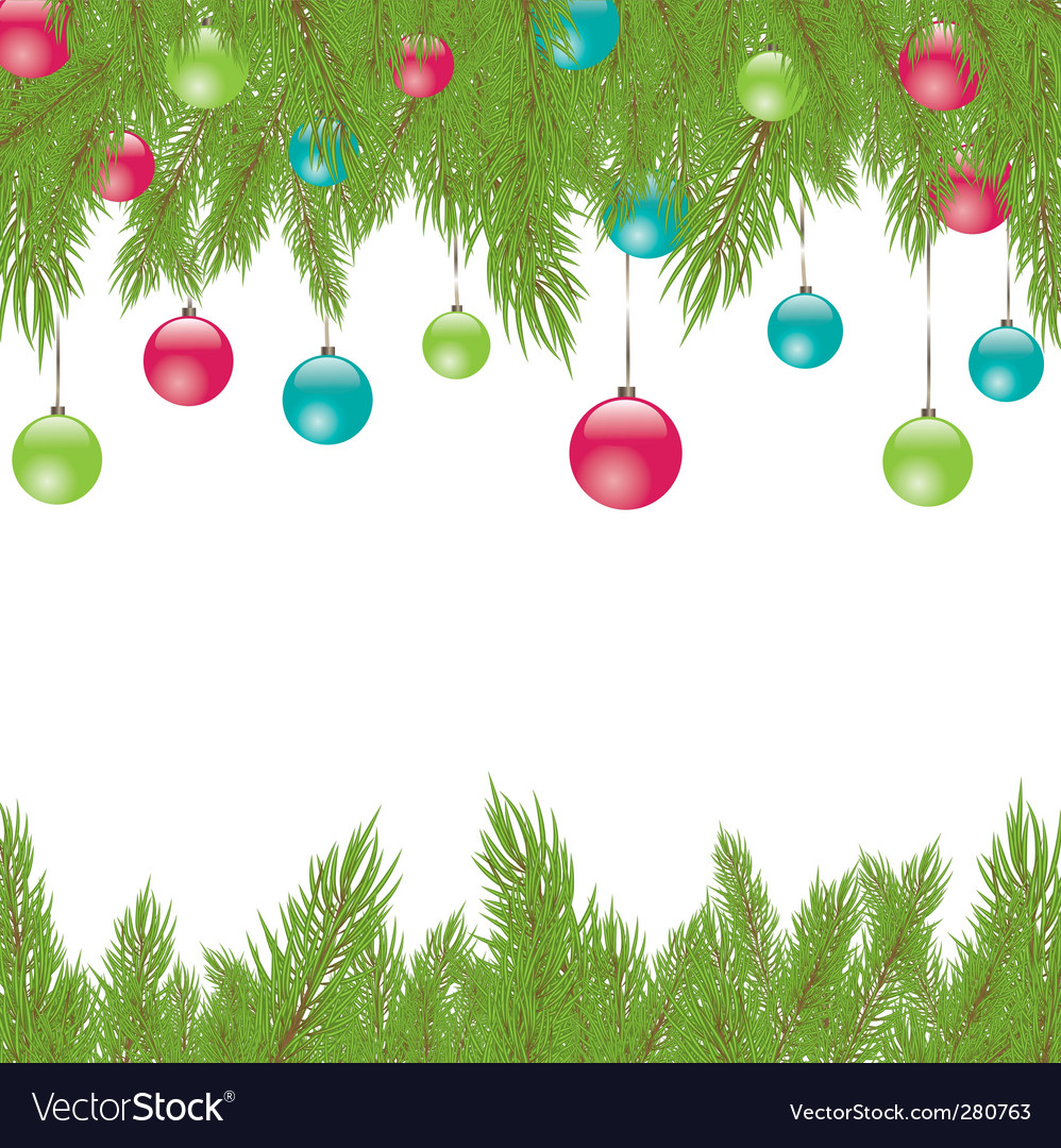 Christmas fur tree illustration vector | Price: 1 Credit (USD $1)