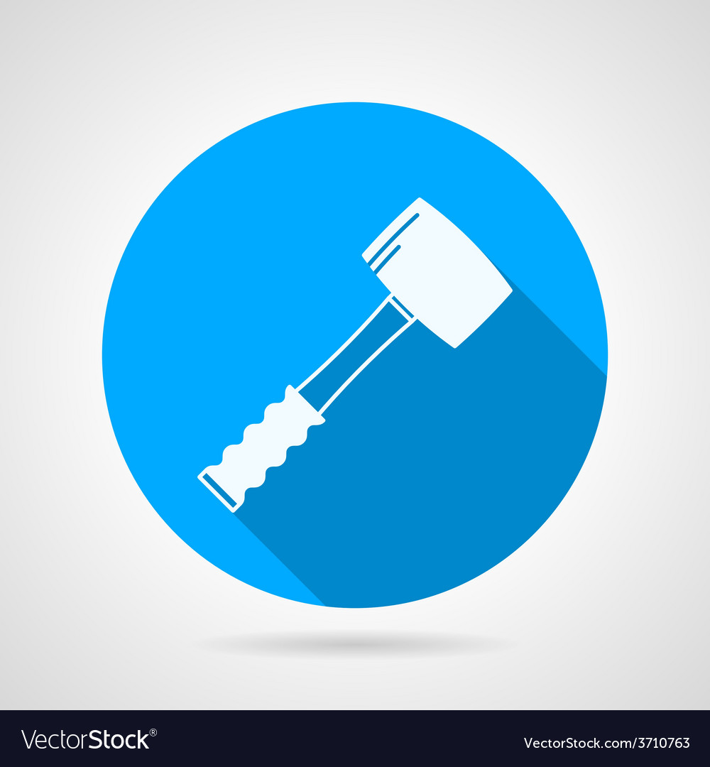Flat icon for construction sledgehammer vector   Price: 1 Credit (USD $1)