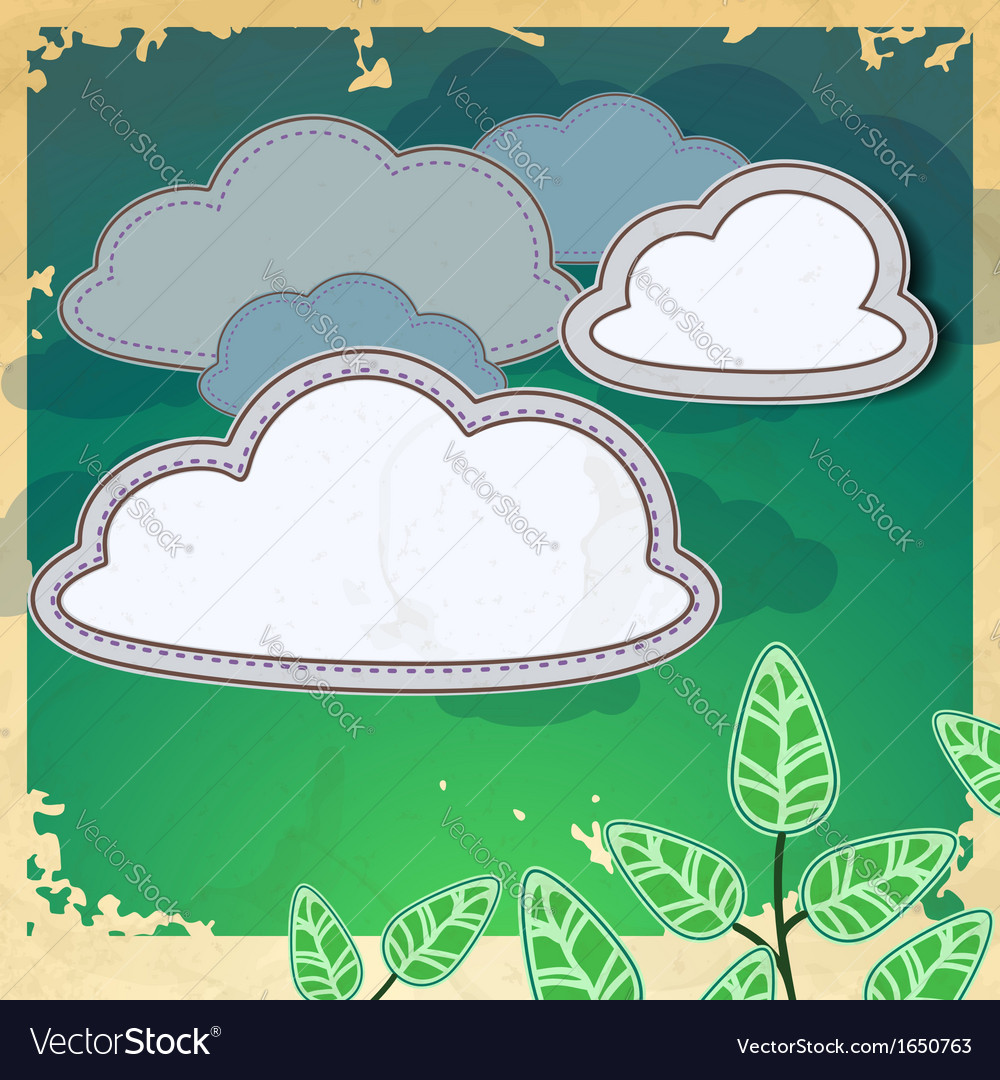 Fresh green leaves on natural background vector | Price: 1 Credit (USD $1)
