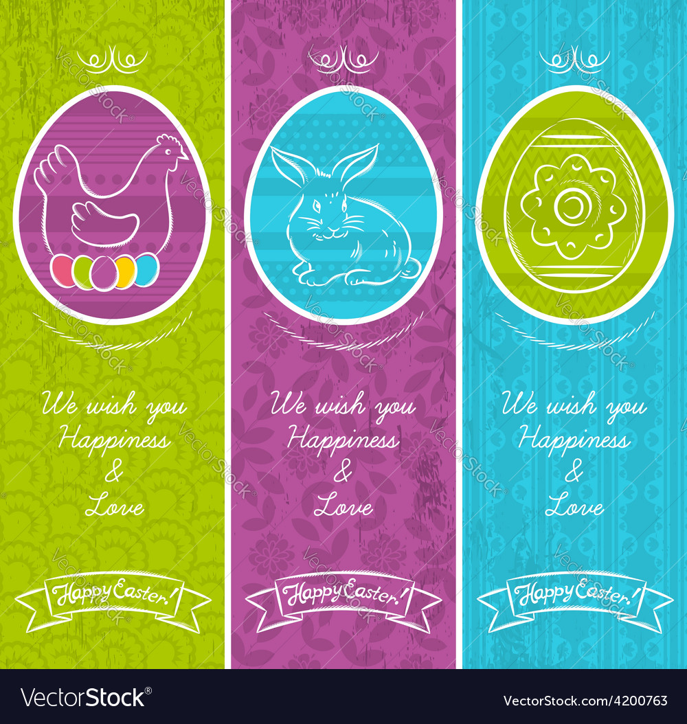 Greetings web banner for easter day vector | Price: 1 Credit (USD $1)