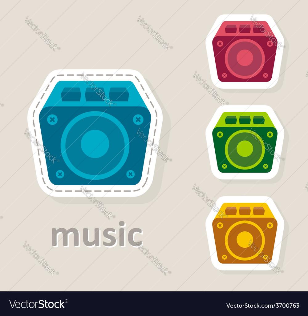 Misic dynamic speaker icon vector | Price: 1 Credit (USD $1)