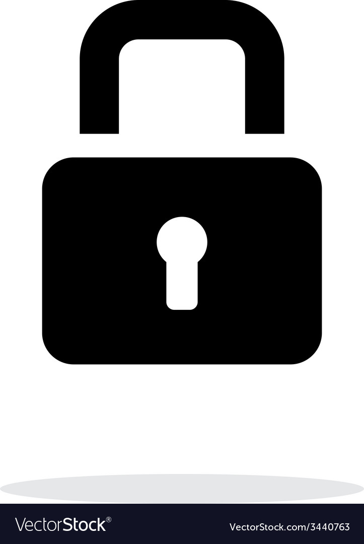 Padlock close icon on white background vector | Price: 1 Credit (USD $1)