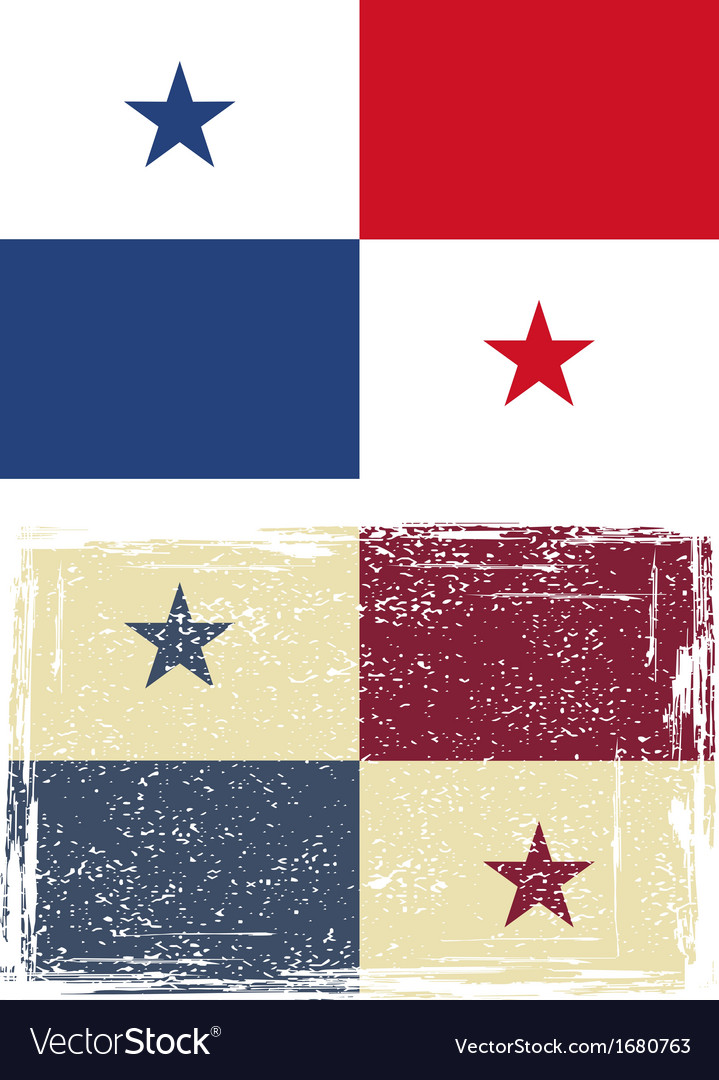 Panama grunge flag vector | Price: 1 Credit (USD $1)