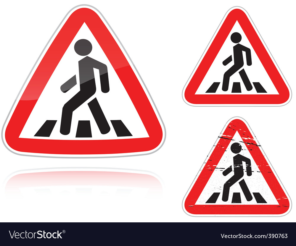 Pedestrian crossing vector