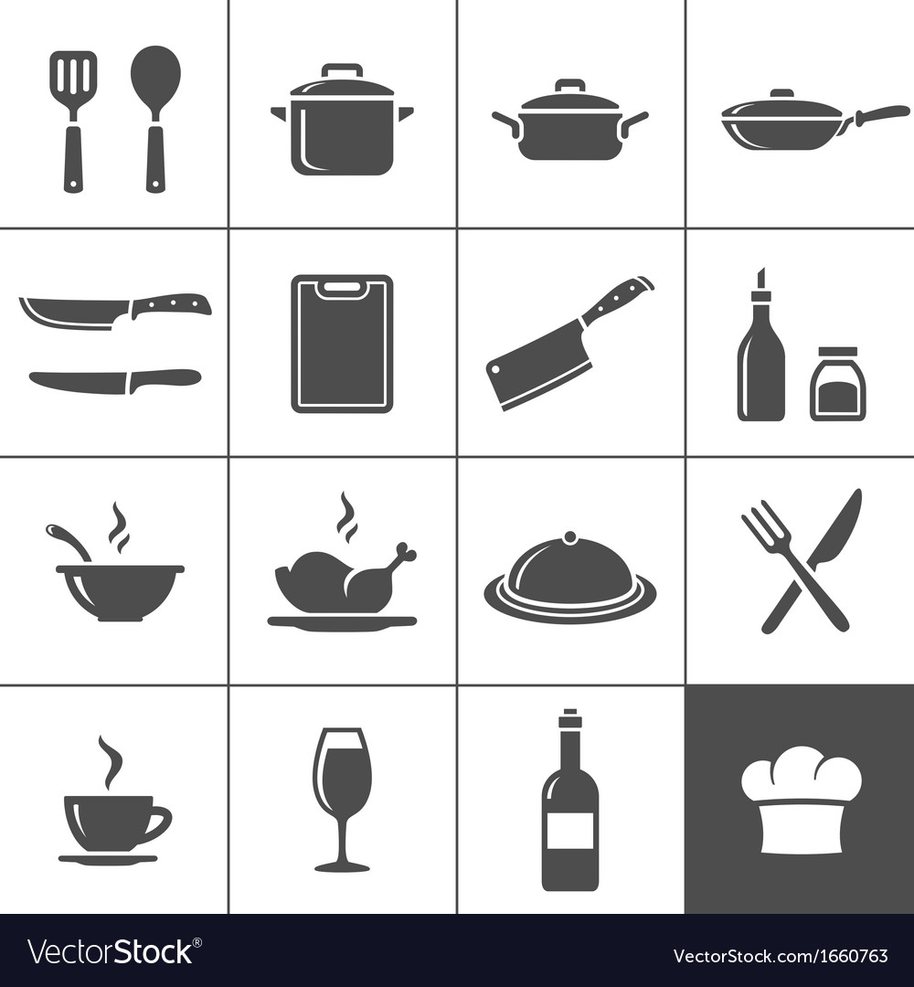 Restaurant kitchen icons vector | Price: 1 Credit (USD $1)