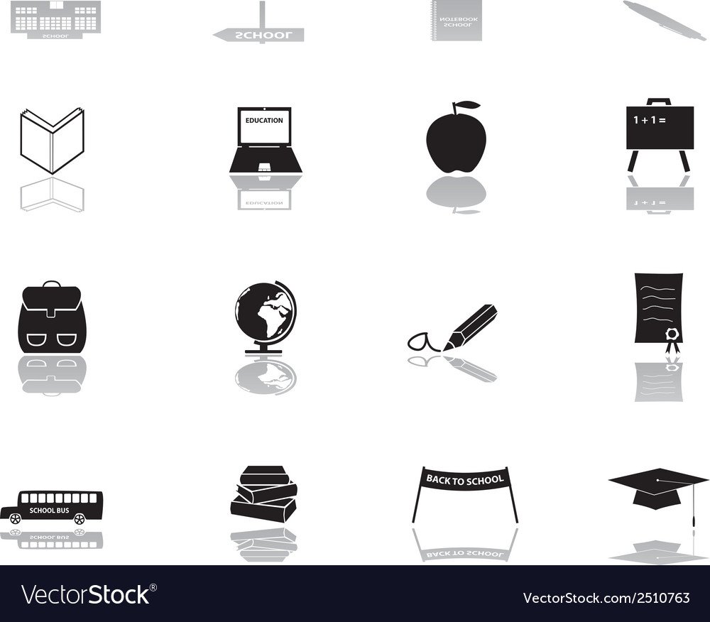 School icons eps10 vector | Price: 1 Credit (USD $1)