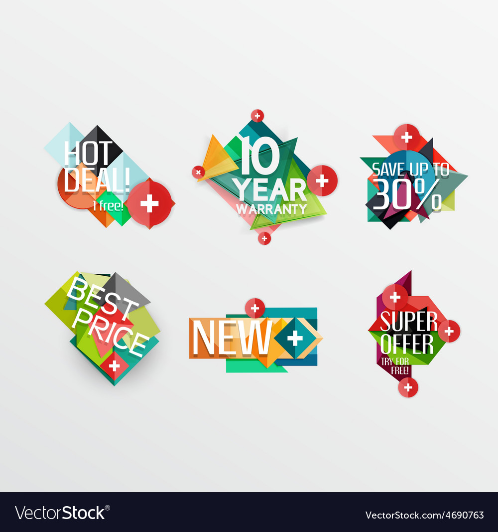 Set of labels stickers banners badges and vector   Price: 1 Credit (USD $1)