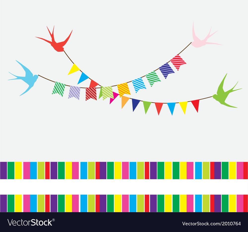 Bunting swallows vector | Price: 1 Credit (USD $1)