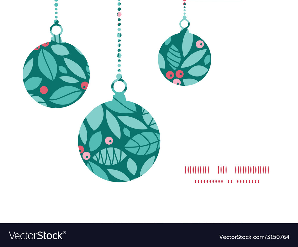 Christmas holly berries christmas ornaments vector | Price: 1 Credit (USD $1)