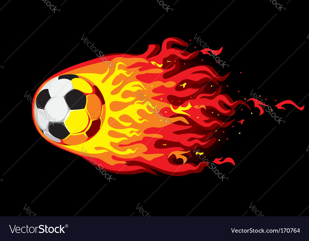 Fire soccer ball vector | Price: 1 Credit (USD $1)