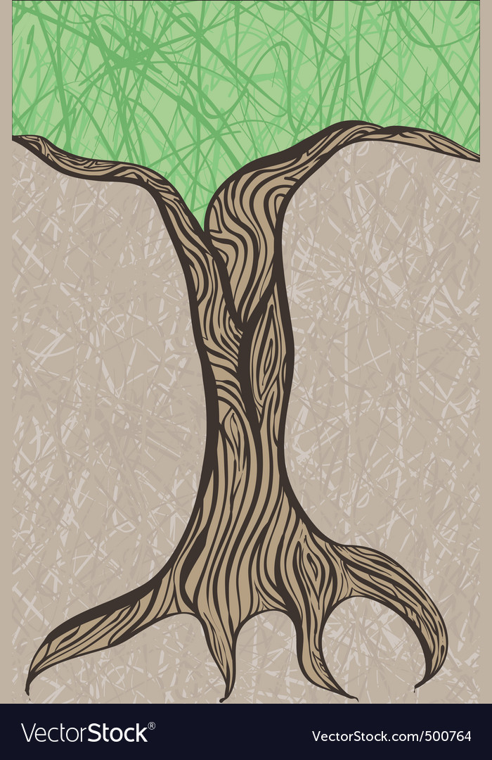 Oak tree trunk vector | Price: 1 Credit (USD $1)